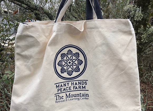 Many Hands Peace Farm Canvas Tote Bag