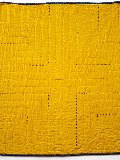 Four Corners Hand Quilted Linen/Cotton Quilt