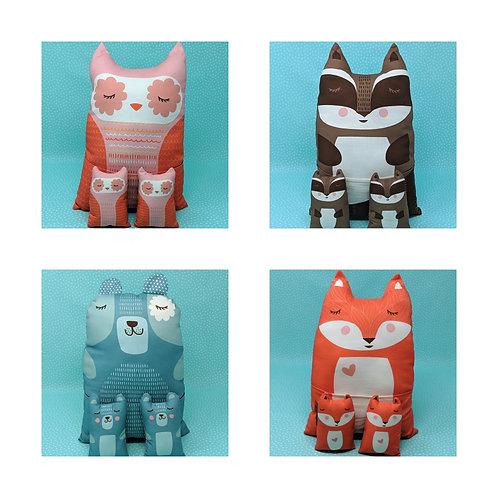 Cut & Sew Kit: Forest Animal Plushies