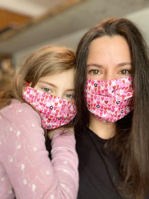 Mommy & Me Heart Face Masks