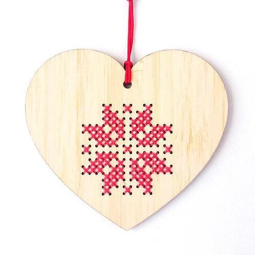 Bamboo Heart Ornament Kit