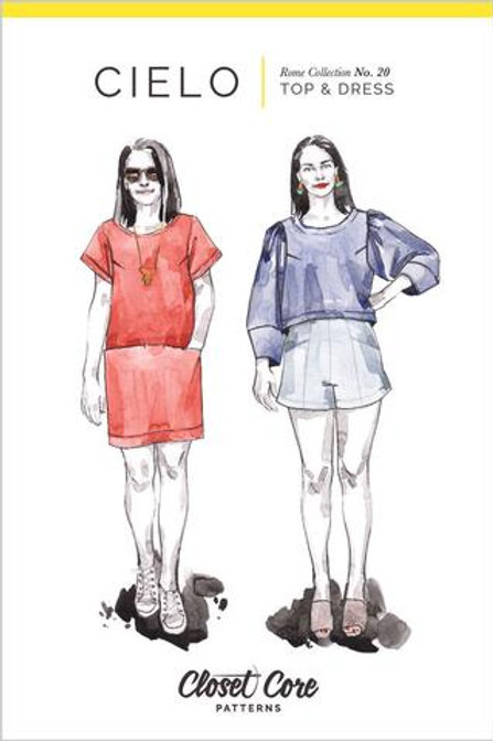 Cielo Top or Dress Pattern from Closet Core Patterns