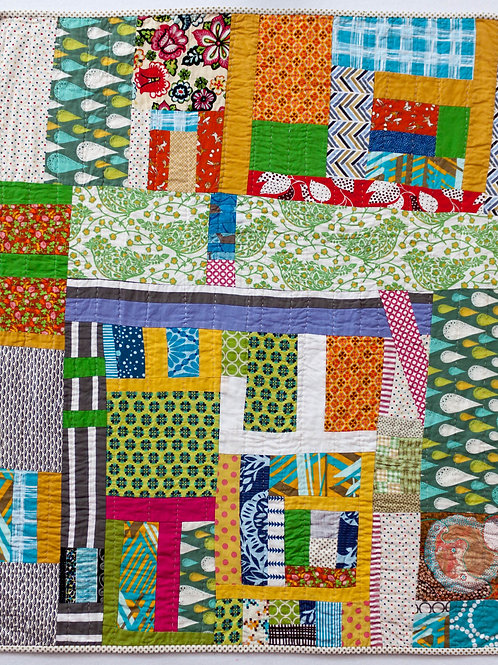 Baby Improv Hand-Quilted Quilt