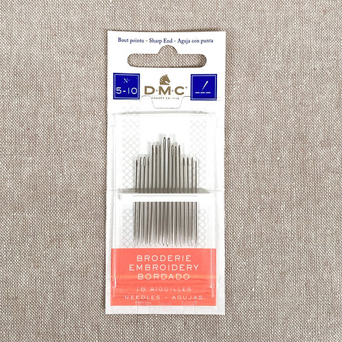 Embroidery Needle Variety Pack - DMC 5-10