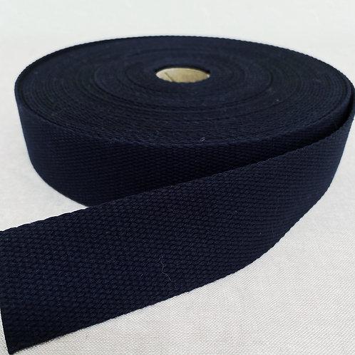 "Navy Blue Cotton Webbing - 1.5"""