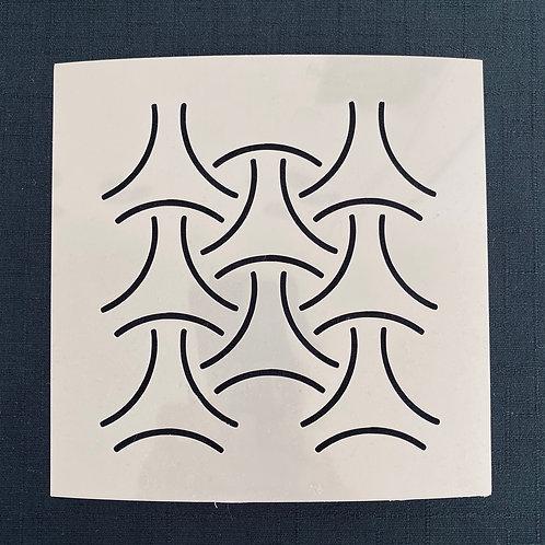 Sashiko Stencil - Bishamon