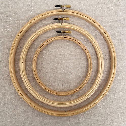 "Wooden Embroidery Hoop: 5"", 7"" or 9"""