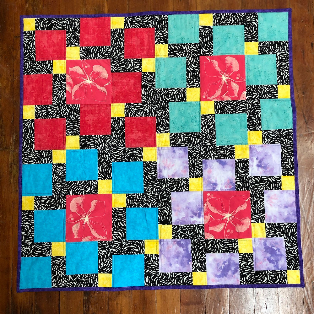 Finished Quilt with Binging
