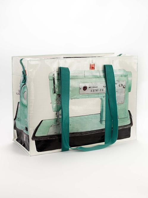 Sewing Machine Zip Tote Bag