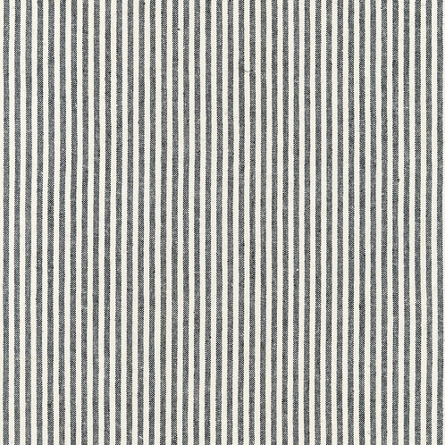 Black & White Stripe Essex Yarn Dyed Classic Woven