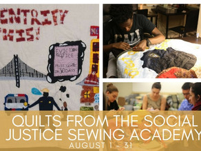Quilts from the Social Justice Sewing Academy