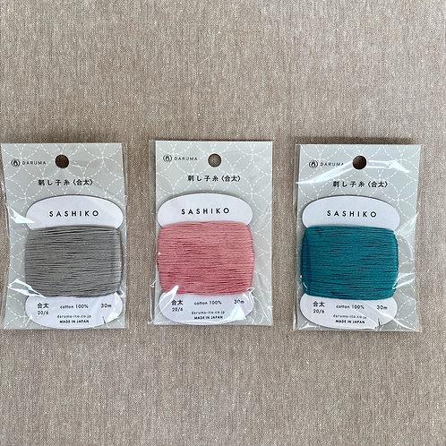Daruma Carded Sashiko Thread - Calm Collection