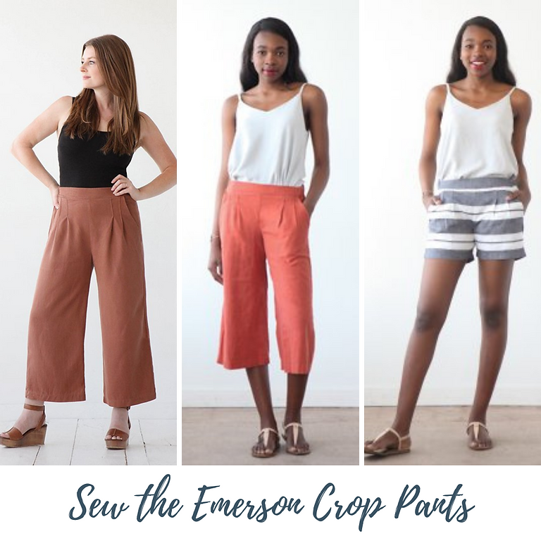 ONLINE: Sew the Emerson Crop Pants with Beth Galvin