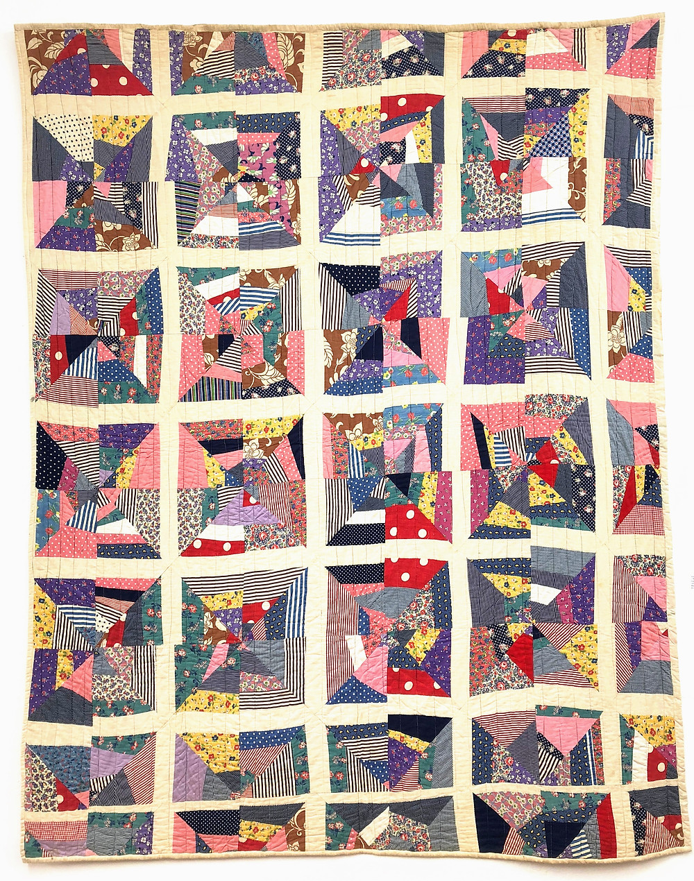 Broken Grid Quilt from the Kiracofe Collection
