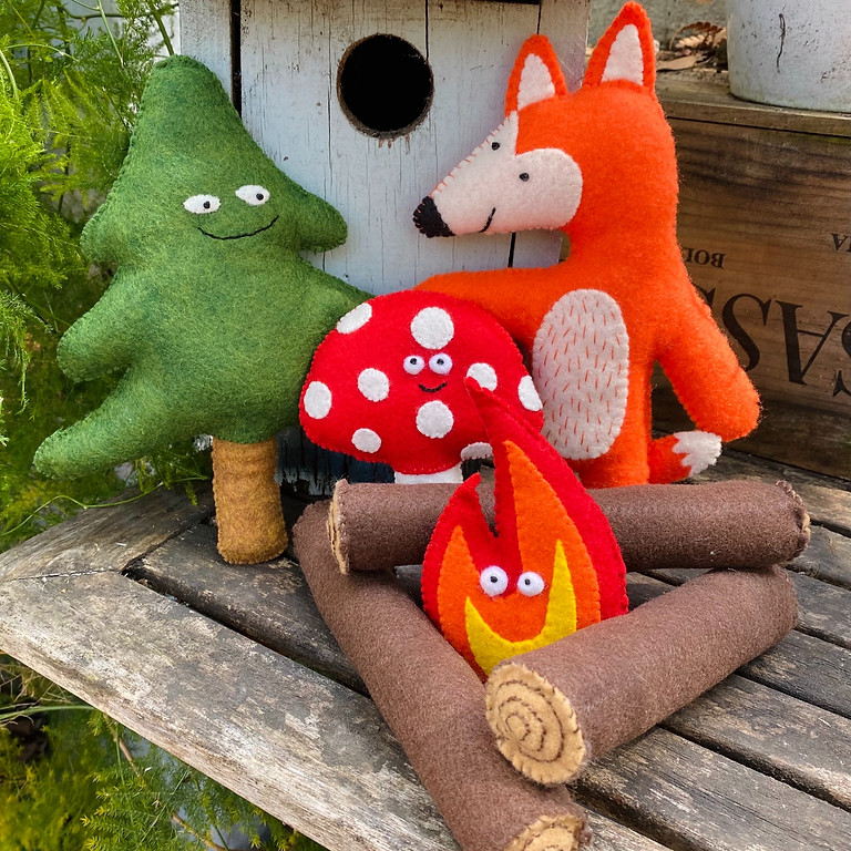 ONLINE: Camp Stitch Sew+Art Felt Critters   June 7-11