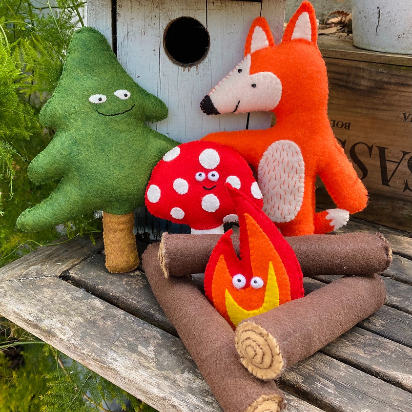 ONLINE: Camp Stitch Sew+Art Felt Critters | June 7-11