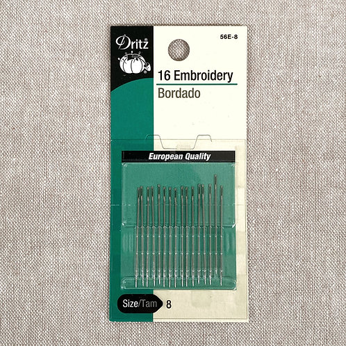 Embroidery Needles - Dritz Size 8