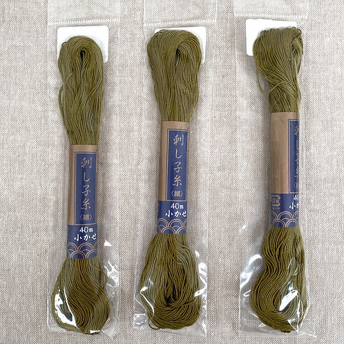 Olive Green Sashiko Thread - Yokota #25