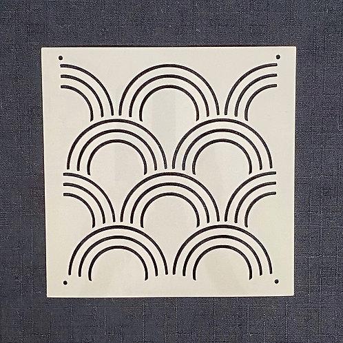 Sashiko Stencil - Clamshell