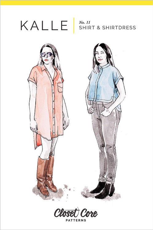 Kalle Shirt & Shirtdress Pattern from Closet Core Patterns