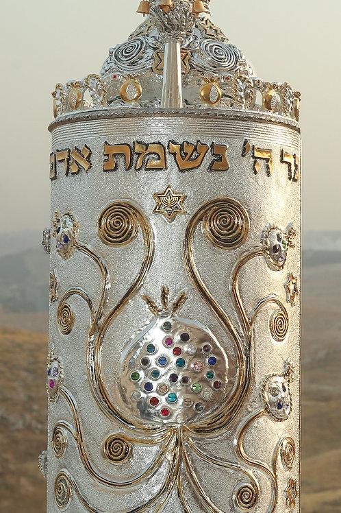 Torah Case-Rimonim