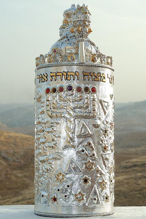 Torah Case-Menorah