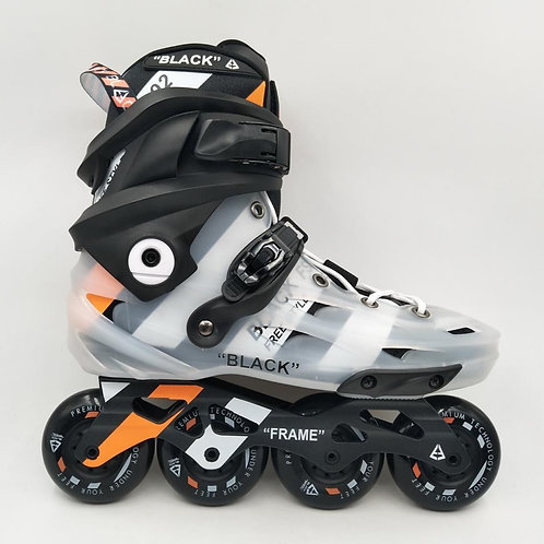 Black Skates Clear Orange