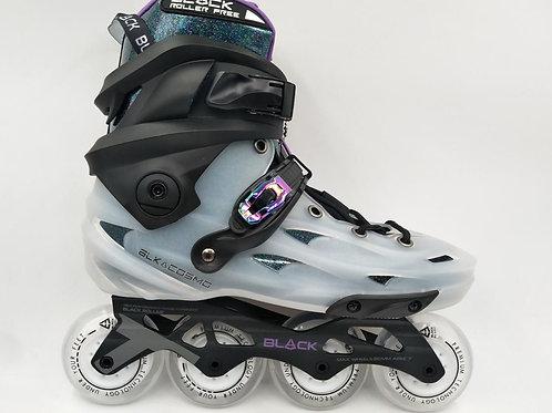 Black Skates Clear Glitter