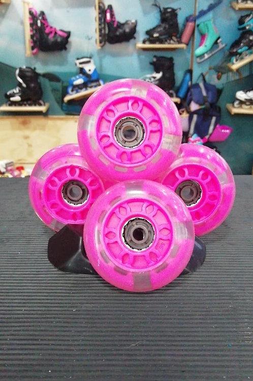 Ruedas led rosa