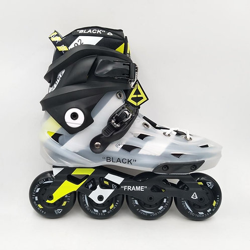 Black Skates Clear Yellow