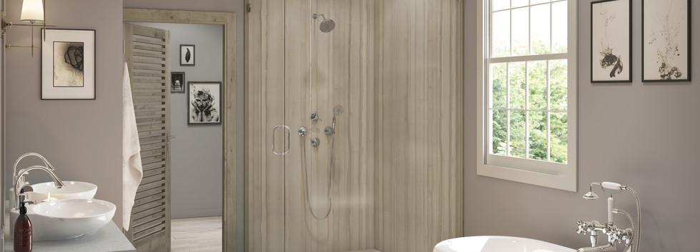 Athens Two-Panel Corner Shower