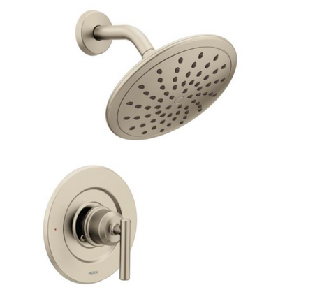 Gibson Single-Handle 1- Spray Shower Faucet Trim Kit in Brushed Nickel