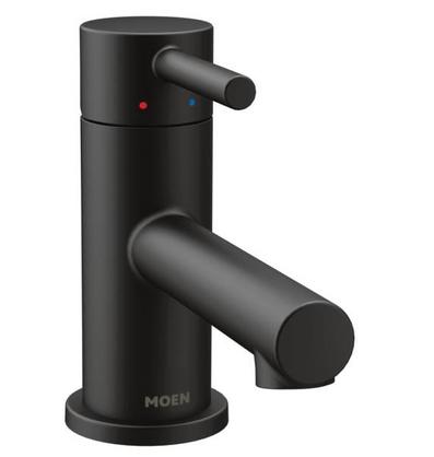 Align Single Hole Single-Handle Low-Arc Bathroom Faucet in Matte Black