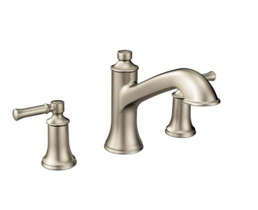 Dartmoor 8 in. Widespread 2-Handle Roman Tub Bathroom Faucet Trim Kit in Brushed Nickel