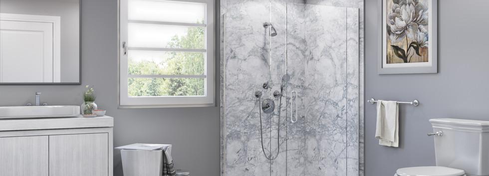 Everst Corner Shower