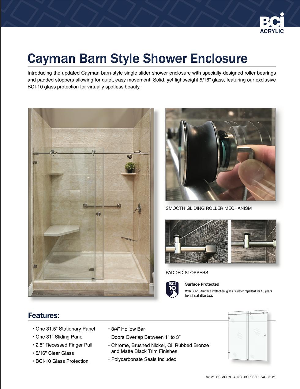 Caman Barn Style Shower Enclosure