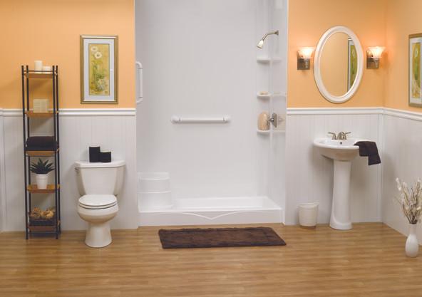 White Sealed Shower Base