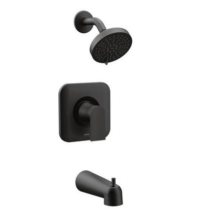 Genta LX 1-Handle Posi-Temp Eco-Performance Tub and Shower Faucet Trim Kit in Matte Black