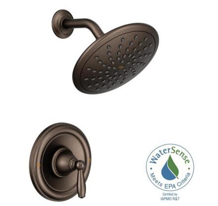Brantford Posi-Temp Rain Shower Single-Handle Shower Only Faucet Trim Kit in Oil Rubbed Bronze