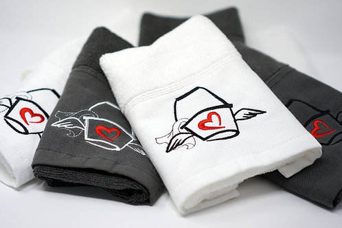 The Love Mop towel, White
