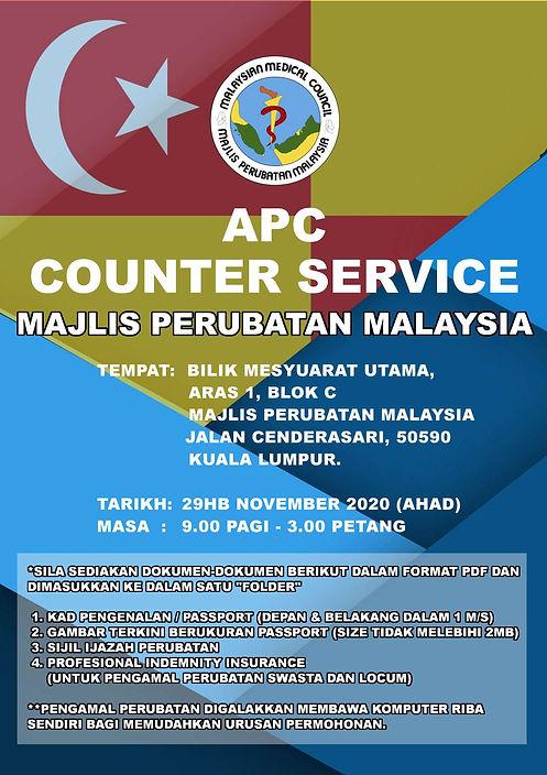MMA Selangor APC Counter Service 29th No