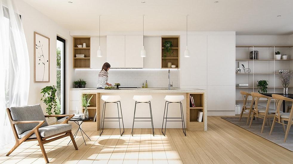 scandinavian Minimalist kitchen