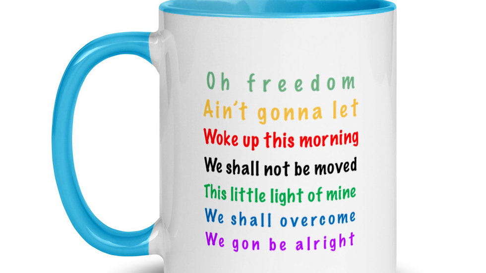 Freedom Song Mug with Color Inside