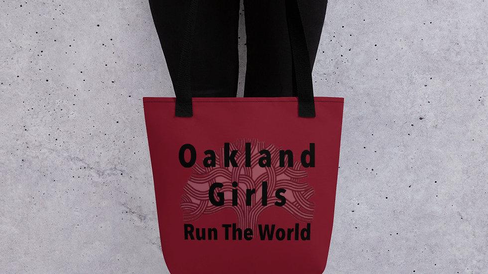 Oakland girls run the world Tote bag