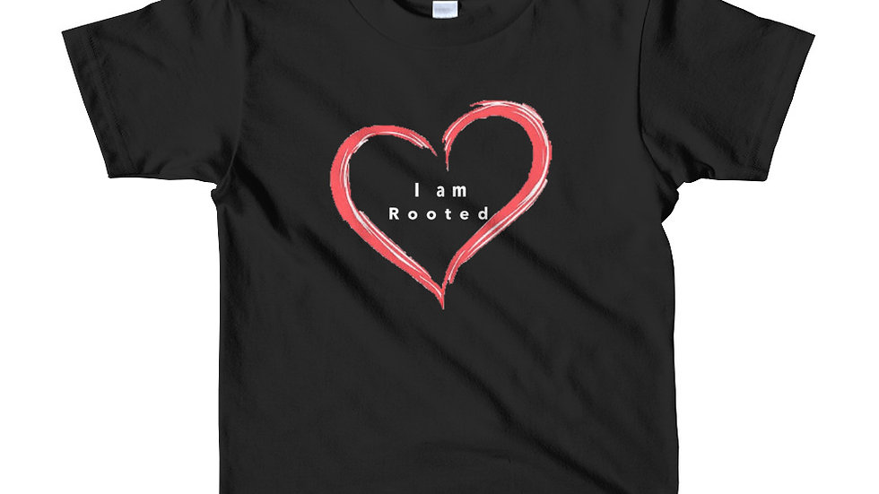 I am rooted in love Short sleeve kids t-shirt