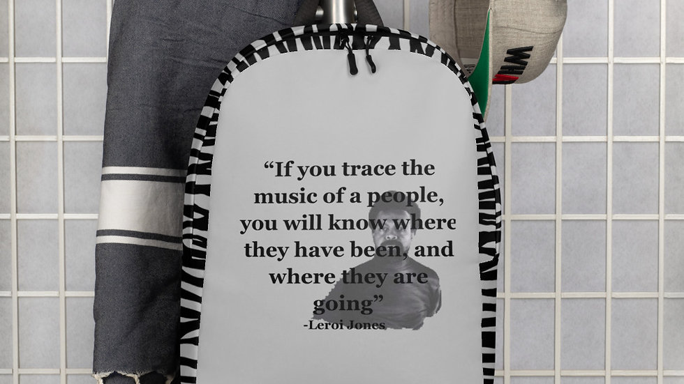 """""""If you trace the music of a people …"""" Minimalist Backpack"""