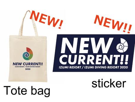 終了しました!コロナでも頑張る!新Tシャツプロジェクト!予約販売スタート😄伊豆海ダイビングリゾート2020 Tシャツ&ステッカー「NEW CURRENT!!」売上の10%をコロナ基金に寄付