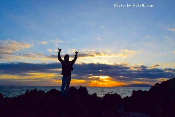 4000年溶岩海岸からの朝陽