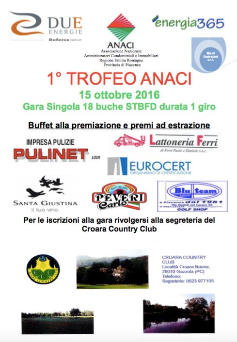 Aperte le iscrizioni al primo torneo di golf ANACI!