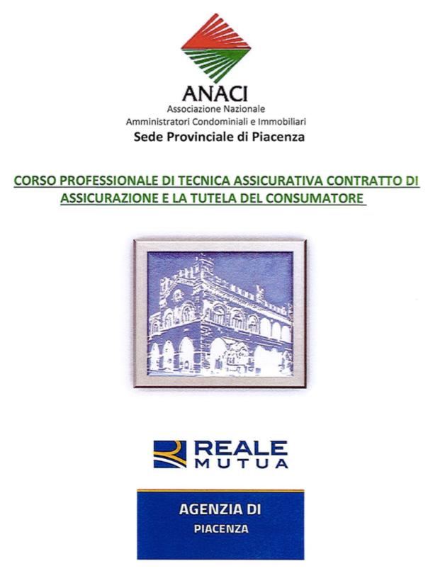 Formazione Anaci, il 28 giugno corso di tecnica assicurativa e tutela del consumatore